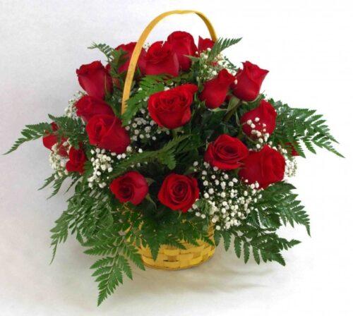 Cesta de 12 rosas
