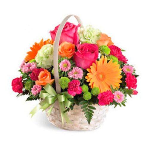 Cesta de flores variadas 2