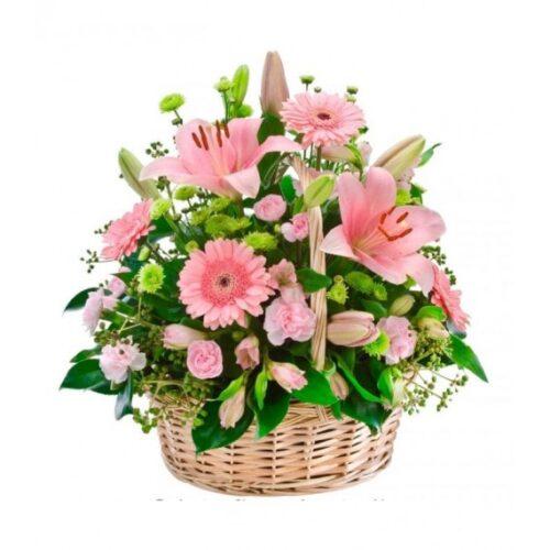 Cesta de flores variadas 3