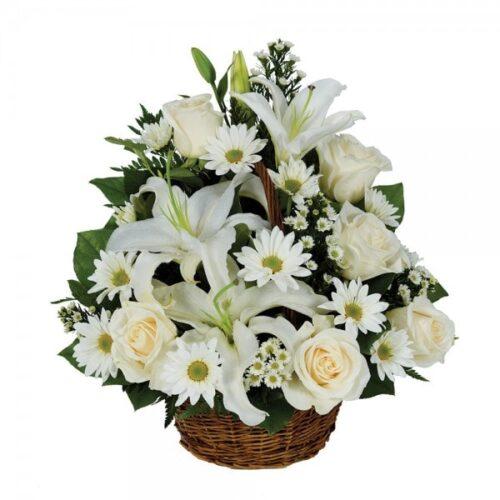 Cesta de flores variadas 4