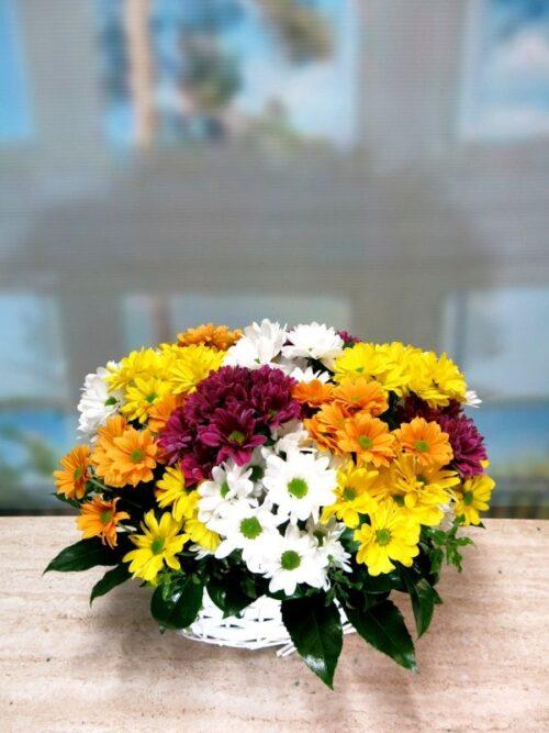 Cesta de flores variadas 6